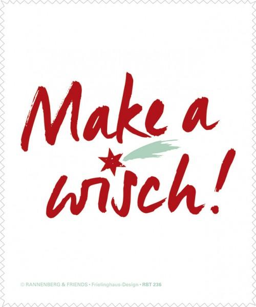 Brillenputztuch 'Make a wisch'