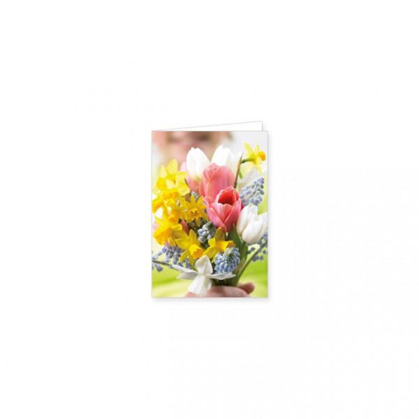 "Mini-Doppelkarte ""Ein Frühlingsstrauß"""