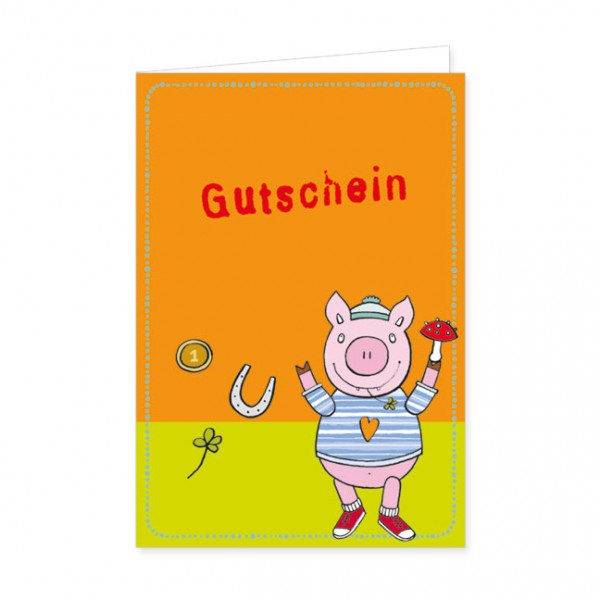 """Geschenk-Gutschein """"Glücksschwein"""""""