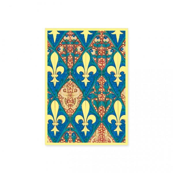 """Postkarte Gold """"Stundenbuch Ludwigs von Orleans"""""""