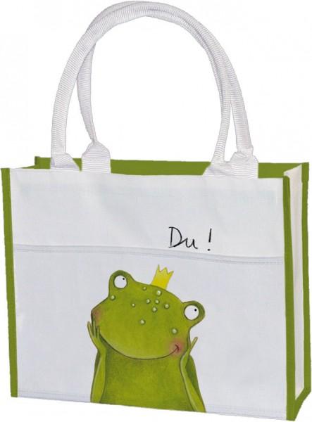 Einkaufstasche 'Du Frosch'