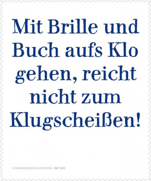 """Brillenputztuch """"Mit Brille und Buch ..."""""""