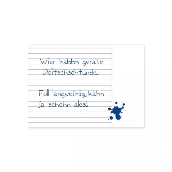 """Postkarte """"Doitschschtunde"""""""