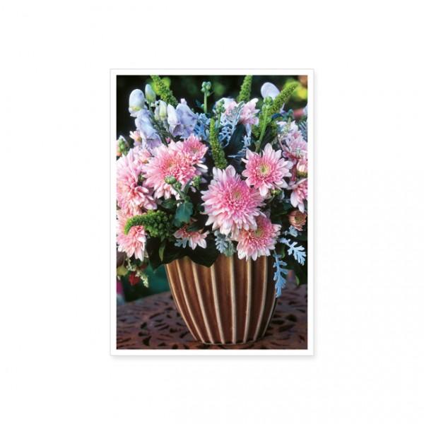 """Postkarte """"Dahlien in einer Vase"""""""
