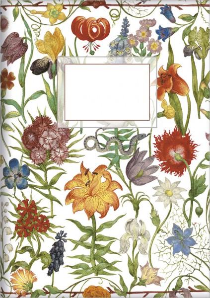 """gr. Kladden A5 """"Gartenblumen"""""""