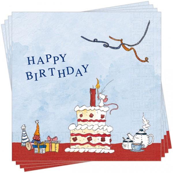 Servietten 'Tilda 'Geburtstagstorte'