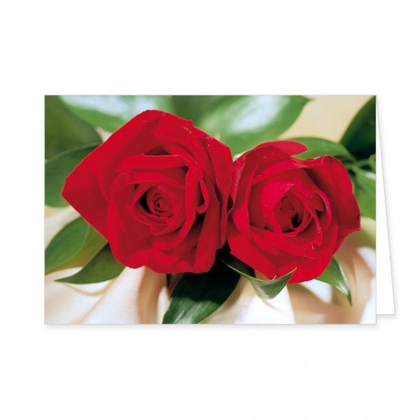 """Doppelkarte """"Zwei rote Rosen"""""""