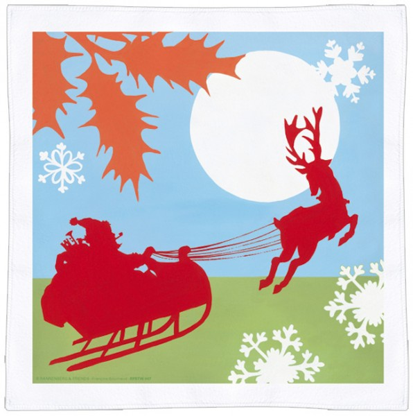 Spültuch Weihnachten 'Schlittenfahrt'