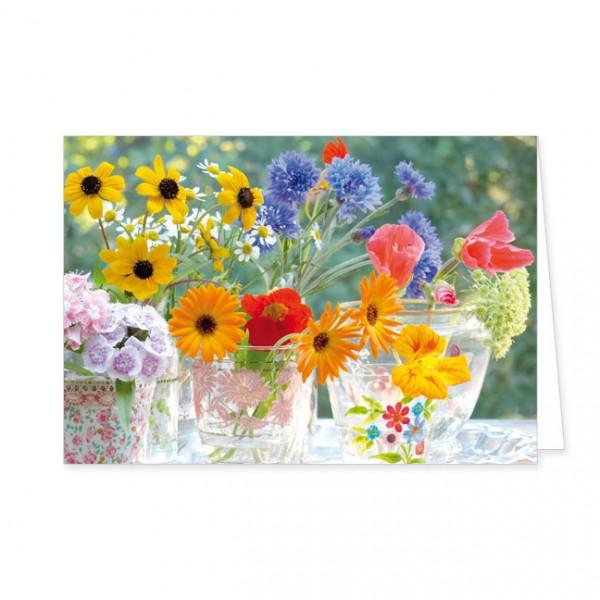 """Doppelkarte """"Bunte Sommerblumen"""""""