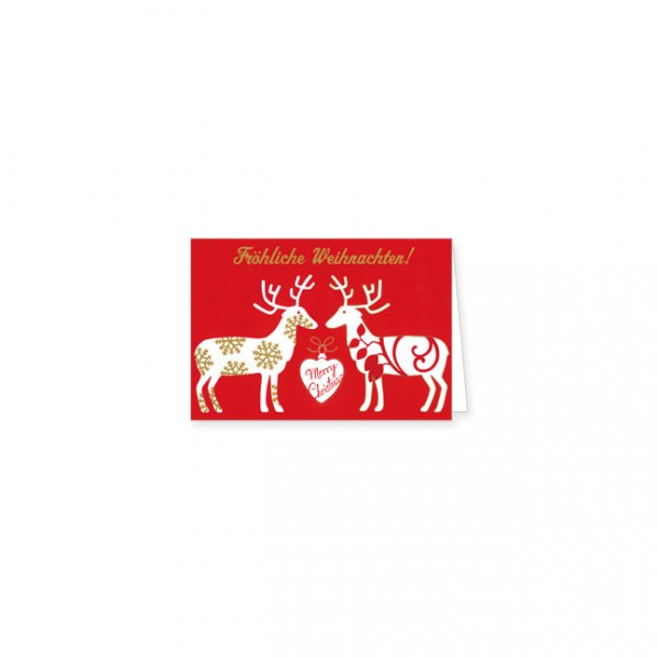 """Mini-Doppelkarte X-Mas """"Fröhliche Weihnachten"""""""