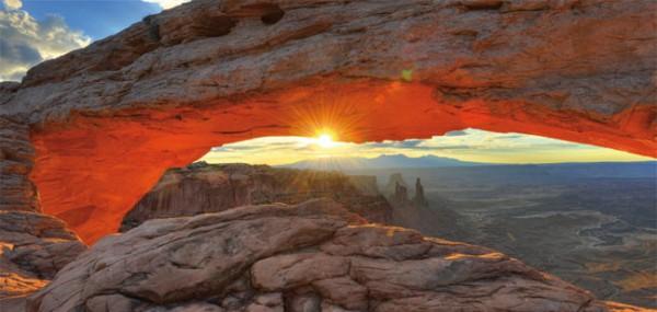 """XXL-Postkarte """"Steinbogen Mesa Arch"""""""