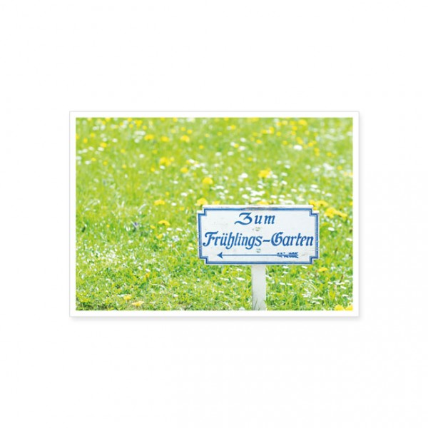 "Postkarte ""Zum Frühlingsgarten"""