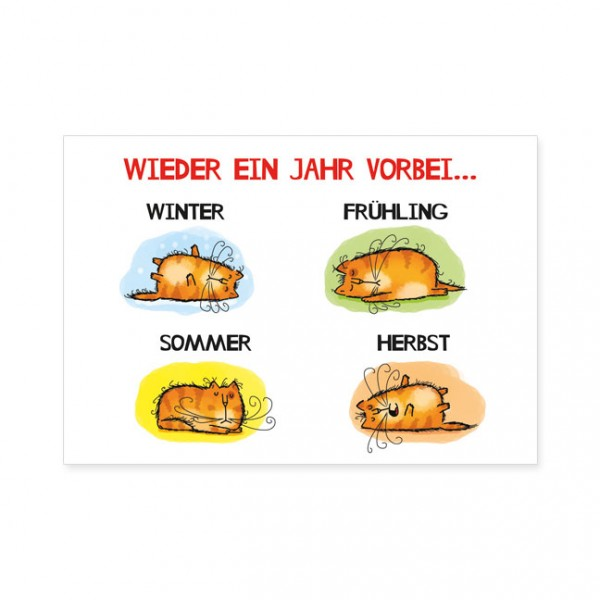 """Postkarten Large """"Catzz - Katzenjahr"""""""