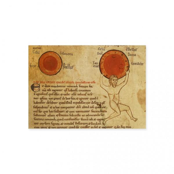 "Postkarte Gold ""Die Sonne"""