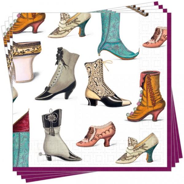 Servietten 'Historische Schuhe'