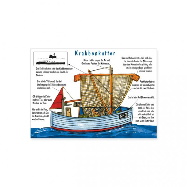 """Postkarte """"Krabbenkutter"""""""