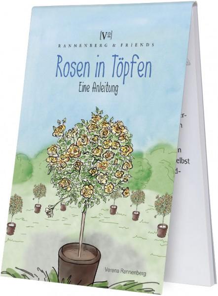 """Spieleblöckchen """"Rosen in Töpfen"""""""