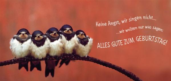 """XXL-Postkarte """"Geburtstagsständchen"""""""