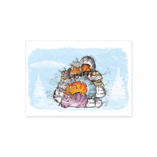 """Postkarte """"Catzz - Katzenbande"""""""