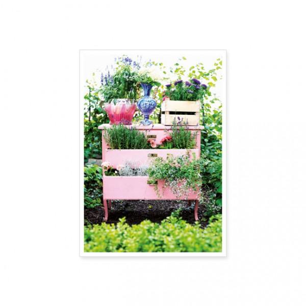 "Postkarte ""Gartenkommode"""