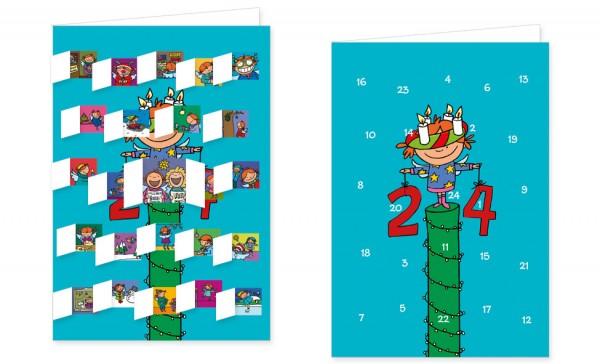 Adventskalenderdoppelkarte 'Lisa Engel'