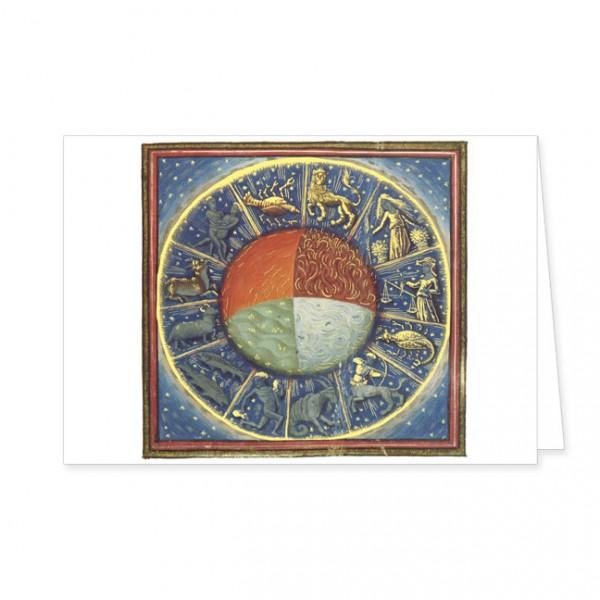 """Doppelkarte Gold """"Die vier Elemente der Erde"""""""