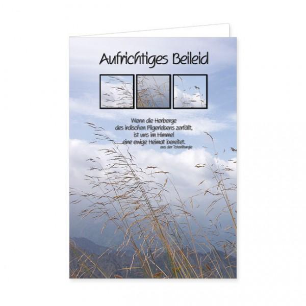 "Doppelkarte ""Aufrichtiges Beileid -Ewige Heimat"""