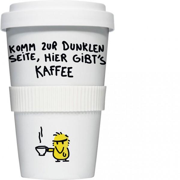 Coffee to go 'Dunkle Seite' von Alexander Holzach