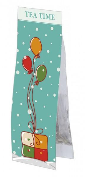 Tea Time 'Geschenk und Luftballon'