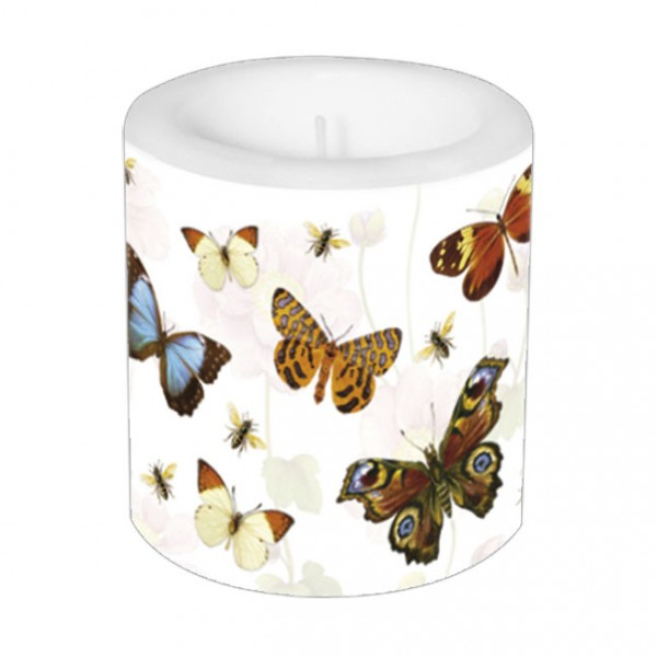 Lampionkerze 'Bunte Schmetterlinge'