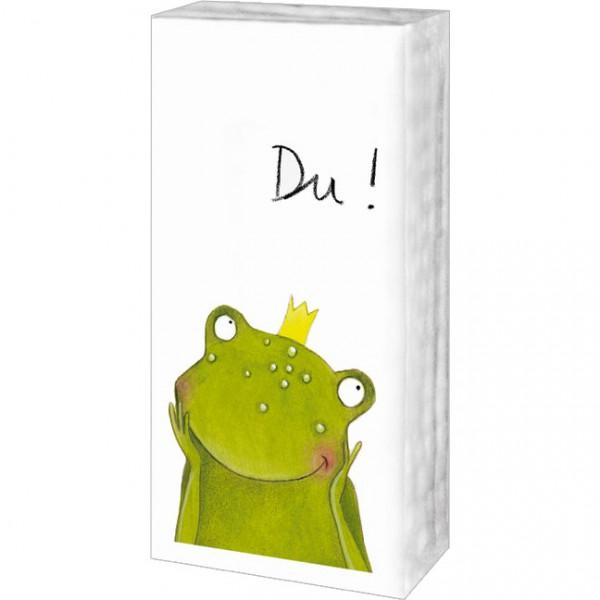 Taschentücher 'Du Frosch'