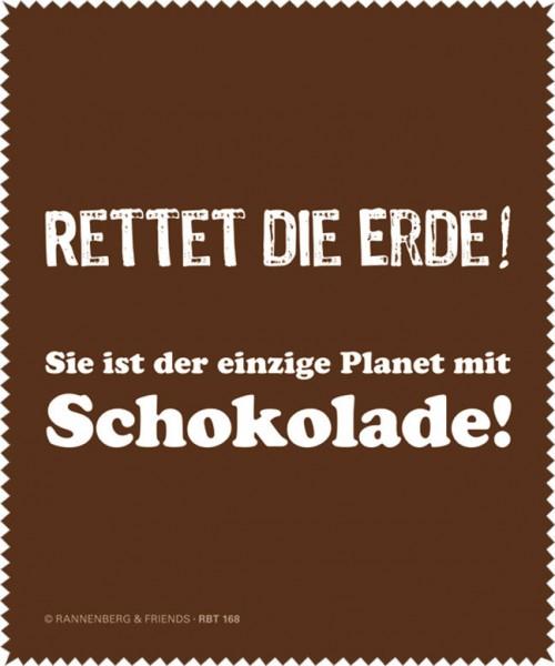 Brillenputztuch 'Rettet die Erde'