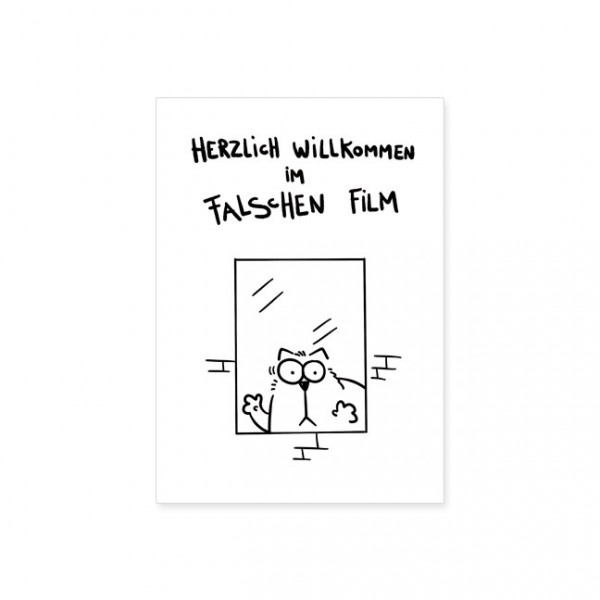 "Postkarte ""Catzz - Falscher Film"""