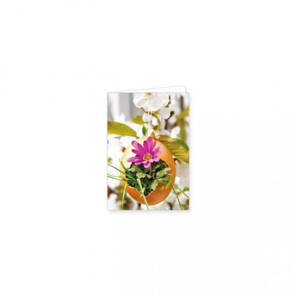 """Mini-Doppelkarte """"Blumen in Eierschale"""""""