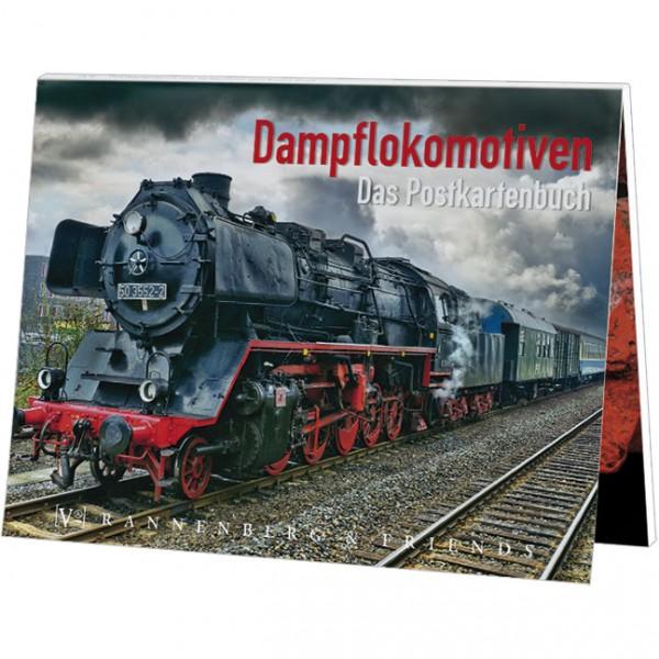 Postkartenbuch 'Dampflokomotive'