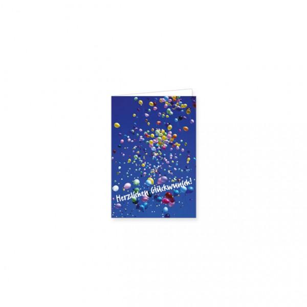 "Mini-Doppelkarte ""Luftballons"""