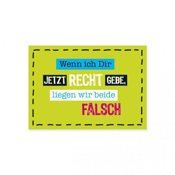 """Postkarte """"Recht geben"""""""