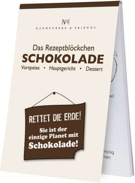 """Rezeptblöckchen """" Schokolade """""""