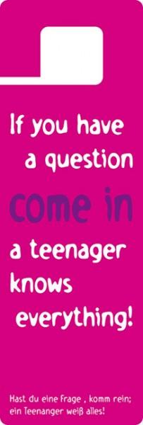 Türhänger 'Teenager'