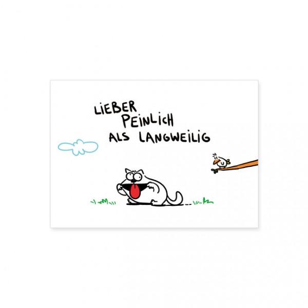 """Postkarte """"Lieber peinlich"""""""