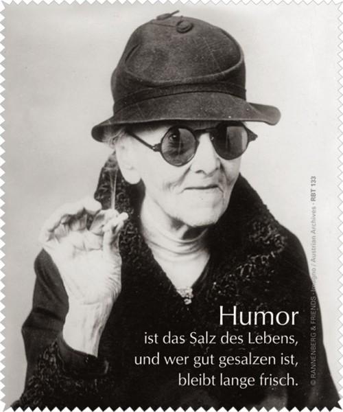 """Brillenputztuch """"Humor ist das Salz."""""""