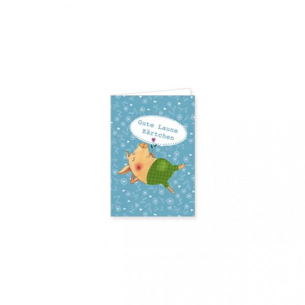 "Mini-Doppelkarte ""Gute Laune Kärtchen"""