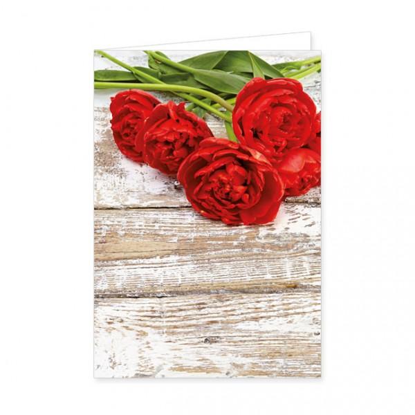 "Doppelkarten ""Sag's mit Tulpen"""