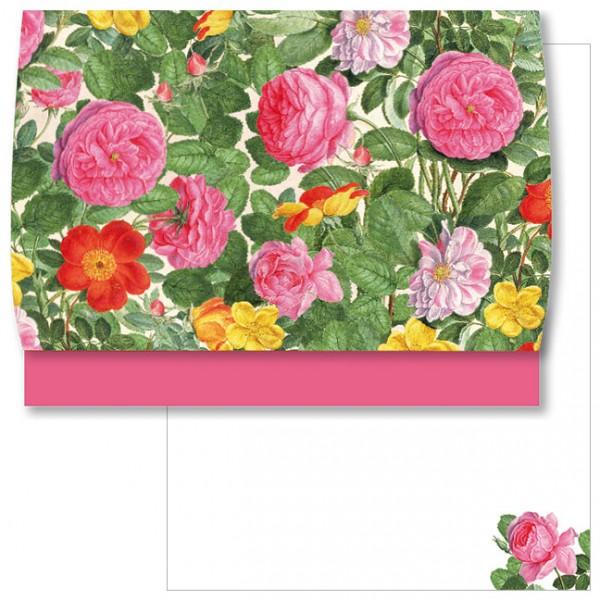 Schreib-Set 'Rosen aus dem Nassau Florilegium'