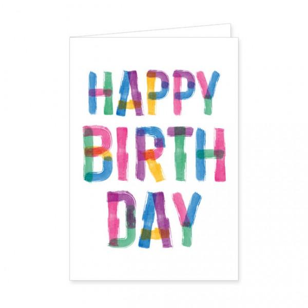 "Doppelkarten ""Buntes Happy Birthday"""