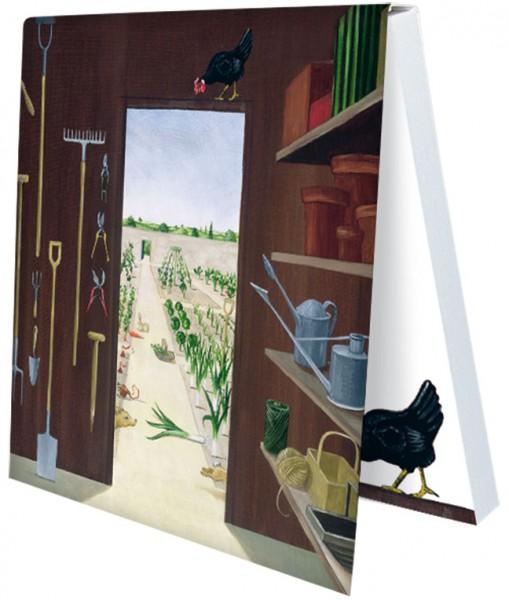 Klebezettel 'Schuppen 2' von Rebecca Campbell
