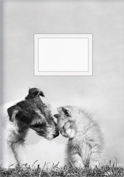Kladden A5 'Hund mit Katze'