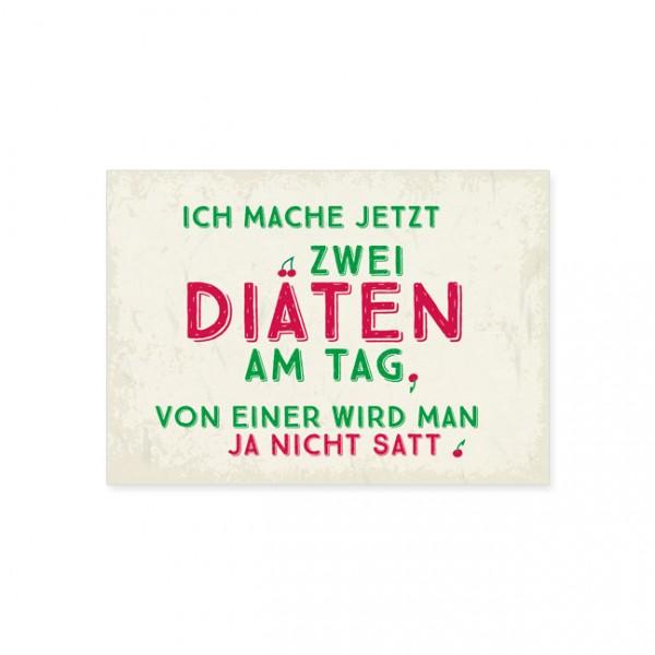 """Postkarte """"Zwei Diäten"""""""
