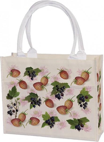 Einkaufstasche 'Erdbeeren und Johannisbeeren'