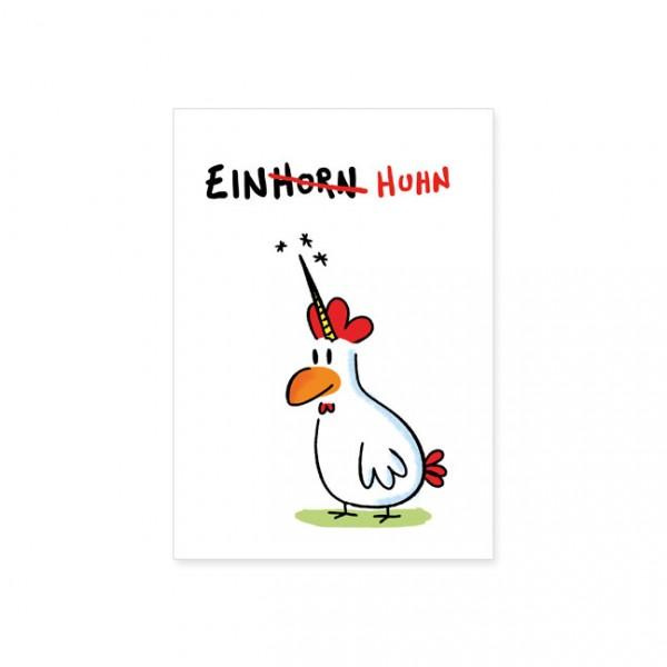"Postkarte ""Einhuhn"""